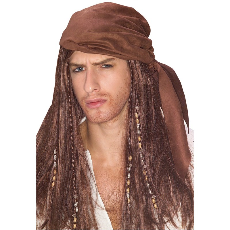 Caribbean Pirate Wig With Beads for the 2015 Costume season.