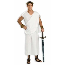 Adult Toga Toga Adult Costume- White: Standard One-Size