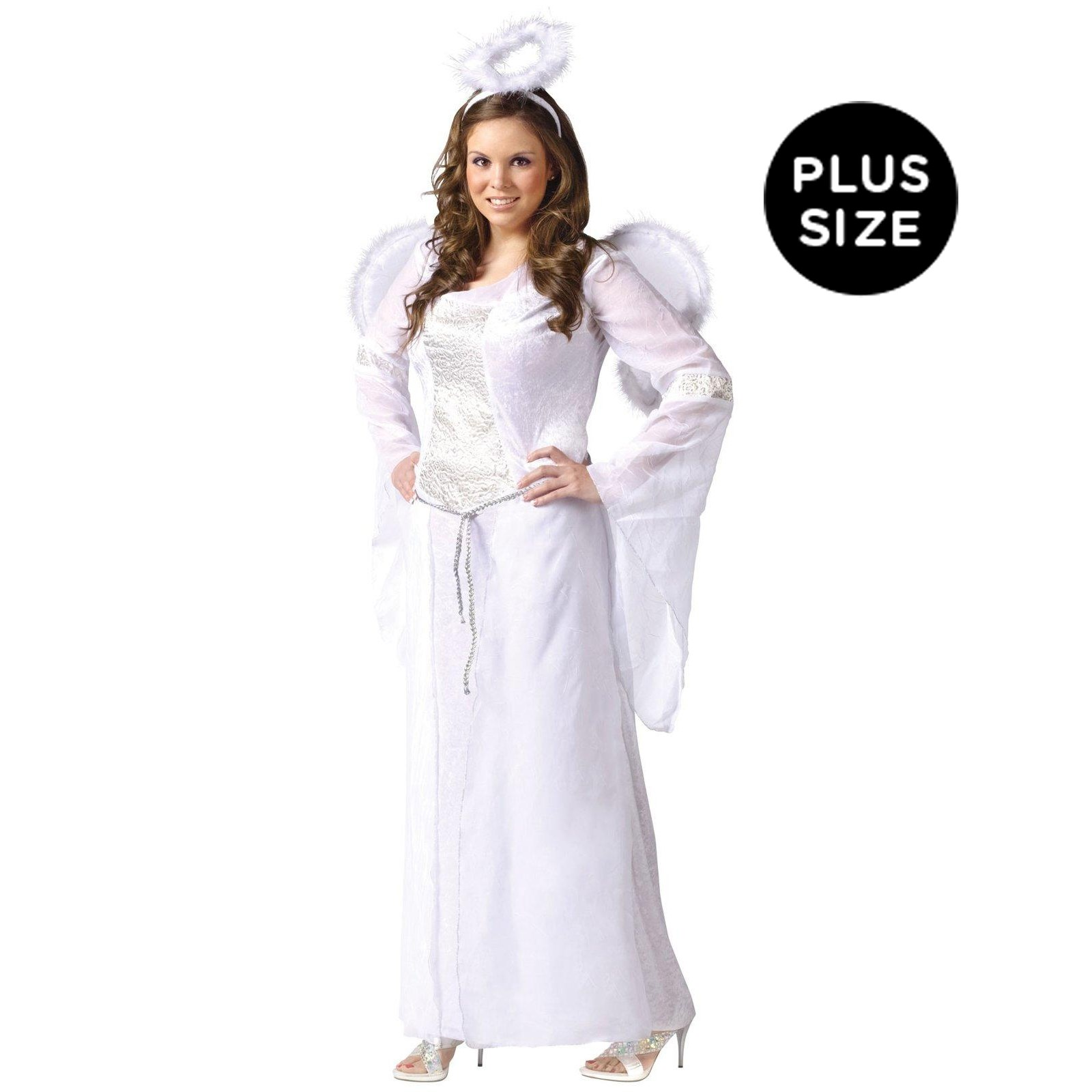 Heavenly Angel White Adult Plus Costume