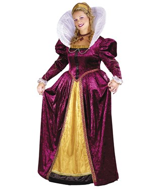 Elizabethan Queen Adult Plus Costume