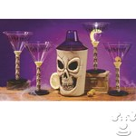 Skull Martini Set - (5 pc Set)