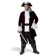 Pirate Captain Plus Adult Costume Costume includes: Jacket with mock
