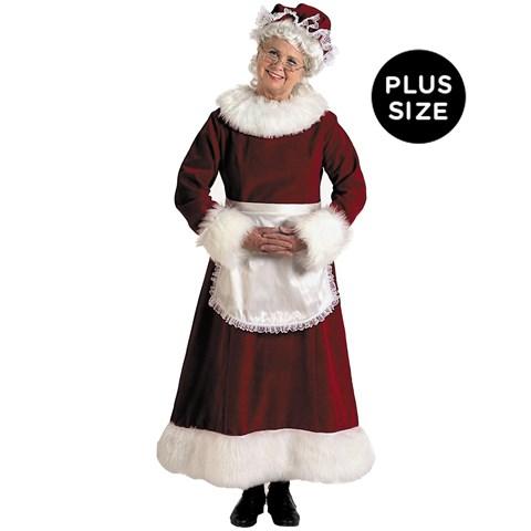 Mrs. Claus Dress Adult Plus Costume
