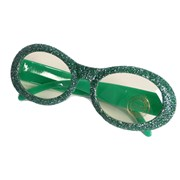 Green Glitter Glasses