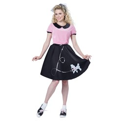 50's Hop With Poodle Skirt Adult Costume
