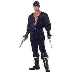 Adult Blackheart The Pirate Adult Costume- Black: Large