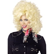 Country Western Wig Blonde Adult