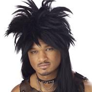 Punk Mullet Wig Black Adult