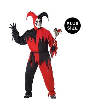 Vile Jester Adult Plus Costume