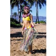 Caribbean Multi-Color Nylon Skirt w/Flowers Adult