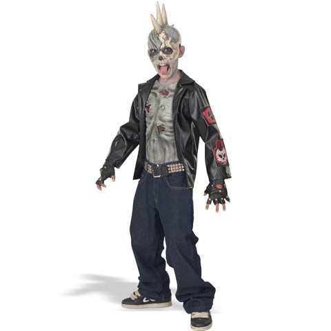 Punk Zombie Child Costume