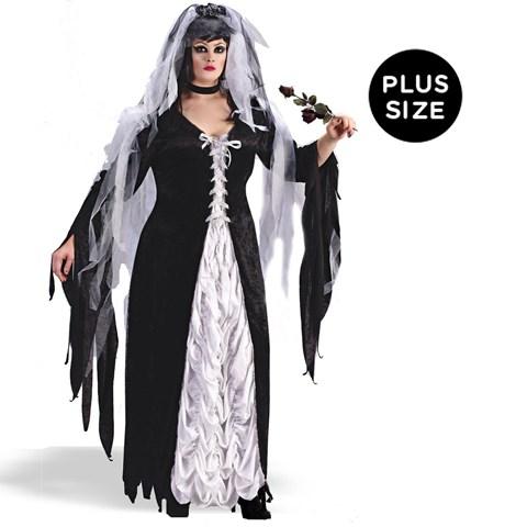 Coffin Bride Adult Plus Costume