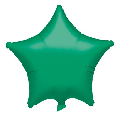 "19"" Green Star Foil Balloon"