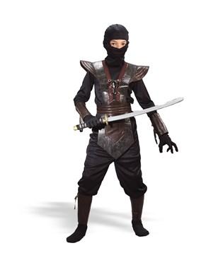 Leather Ninja Fighter  Child Costume