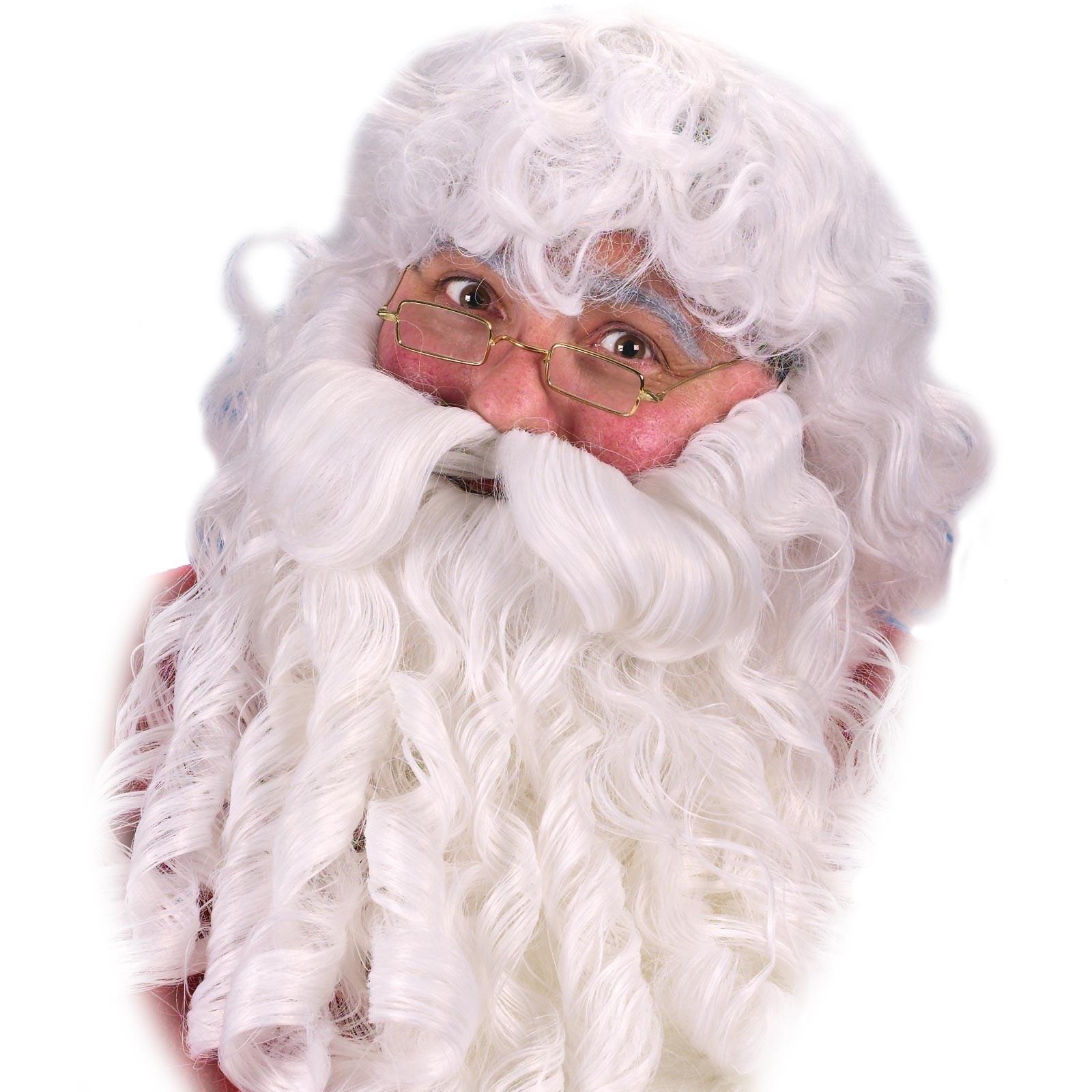Deluxe Santa Wig  Beard and Eyebrows Set