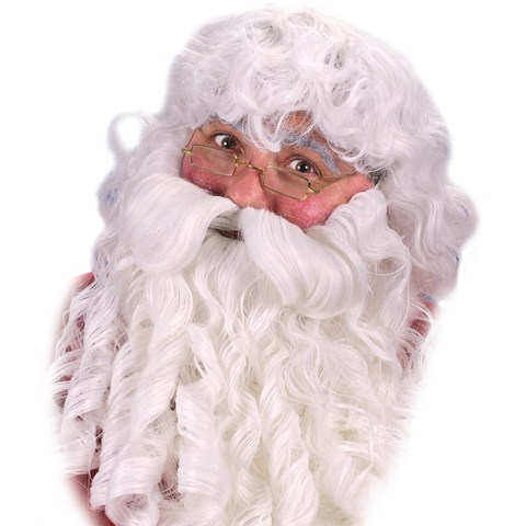 Deluxe Santa Wig, Beard and Eyebrows Set