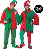 Elf Tunic/Hat/Shoe Costume Kit Plus Adult costume