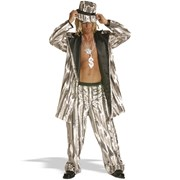 Iced Pimp, Silver  Adult
