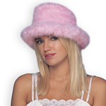 Feather Top Hat Pink