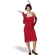 Miss Millie's Fringe Flapper Dress Red Adult