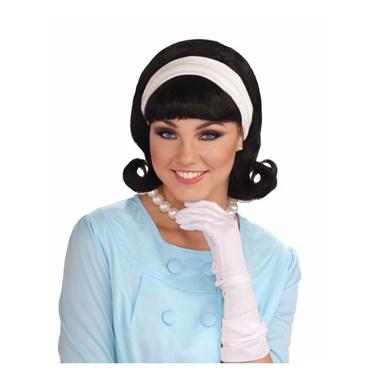 1950s Wig W/detachable Headband - Black