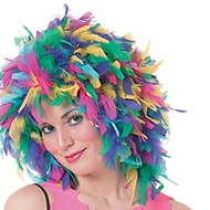 Feather Wig Multi-Color