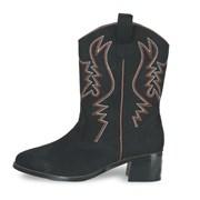 Black Suede Cowboy Boots Adult Medium (7-8)