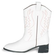 White Cowboy Boots Adult Medium (7-8)