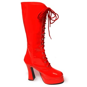 Sexy Red Patent Knee High Boots Adult Medium (7-8)