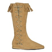 Indian Side Lace Boots Adult Medium (7-8)