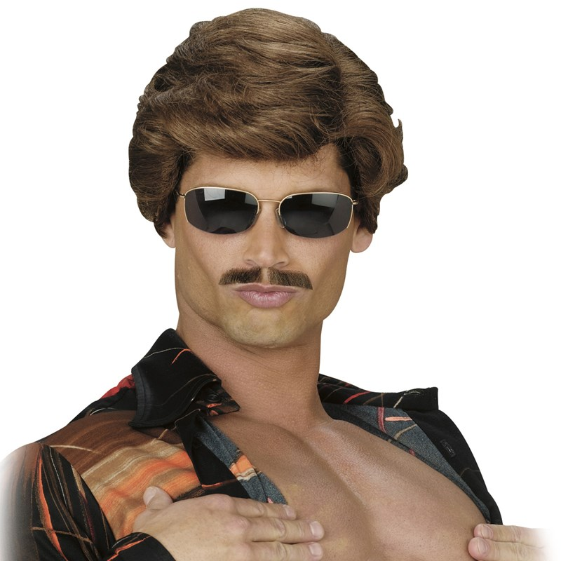 Leading Man Wig Dark Brown Adult for the 2015 Costume season.