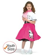 Complete Poodle Skirt Outfit (Pink & White)  Child