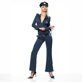 Police Jumpsuit  Adult Costume