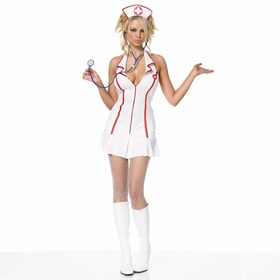 Head Nurse Halter Dress Adult Medium/Large