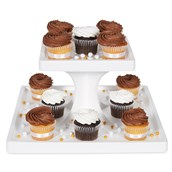 2 Tier Square Cupcake Stand