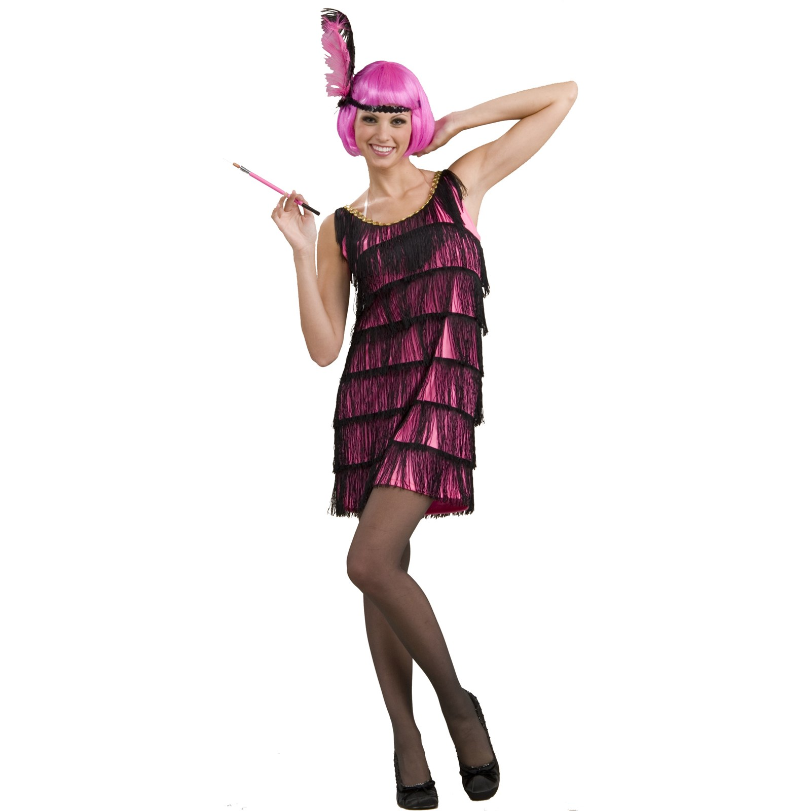 20's Pink Flapper Adult Costume | BuyCostumes.com