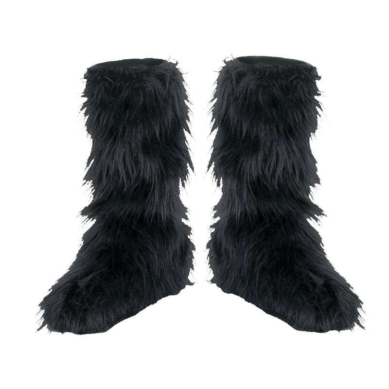 Fuzzy (Black) Child Boot Covers for the 2015 Costume season.