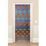 5' Happy Halloween Door Curtain - Spiders & Pumpkins