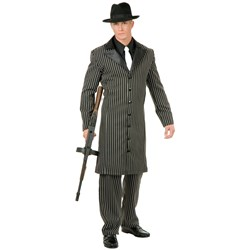 Gangster Suit Long Jacket Adult Costume