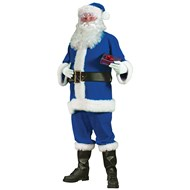 Blue Santa Suit Adult Large