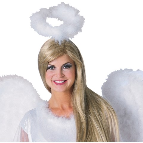 Marabou Feather Halo White