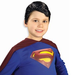 Superman Vinyl Wig Child