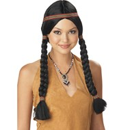 Indian Maiden (Black) Wig