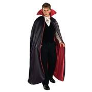 Lined Vampire Cape (Red/Black)