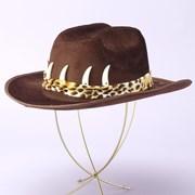 Cowboy Hat with Teeth - Brown