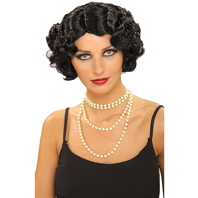 Flapper Wavy Wig (Black) for the 2015 Costume season.