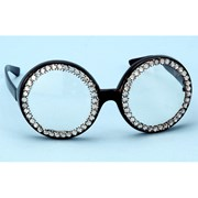 Rhinestone Big Glasses