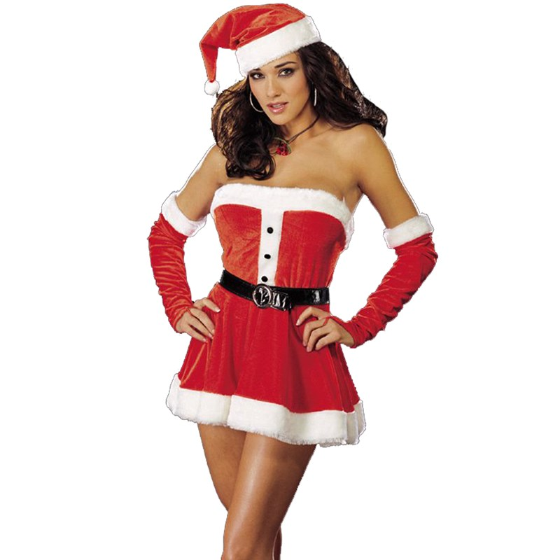Santas Sweetie Red Adult Costume for the 2015 Costume season.