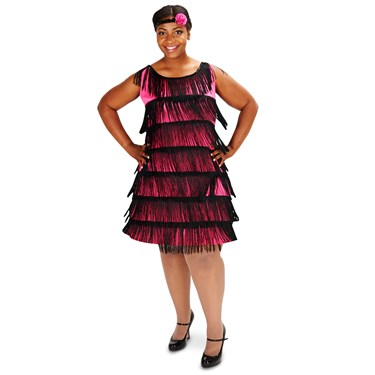 20's Pink Flapper Adult Plus Costume