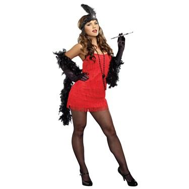 20s Red Flapper Dress